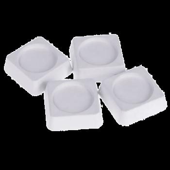 Антивибрационные подставки ИТА, 60х60х18мм, белые, квадратные, 4шт, 20533