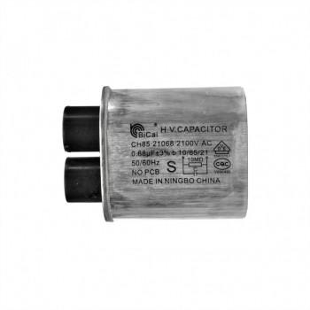 Конденсатор СВЧ печи CH85 0,68±3%мкФ, высоковольтный, 2100V (CH8521068), x85068