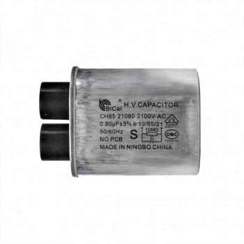 Конденсатор СВЧ печи CH85 0,8±3%мкФ, высоковольтный, 2100V (CH8521080), x85080
