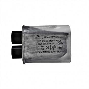 Конденсатор СВЧ печи CH85 0,86±3%мкФ, высоковольтный, 2100V (CH8521086), x85086