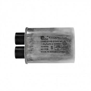 Конденсатор СВЧ печи CH85 1±3%мкФ, высоковольтный, 2100V (CH8521100), x85100