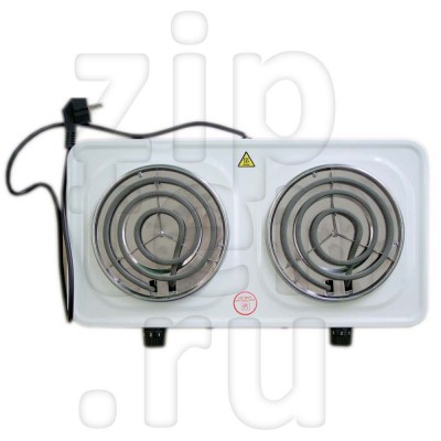 Электрическая плитка ИТА 2 конфорки 2000 Вт спираль 0008