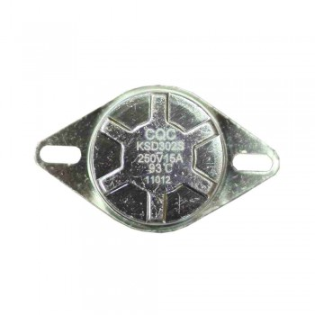 Термостат KSD302S 15A, 93°С, биметаллический, ручной возврат (GTLH 0138)
