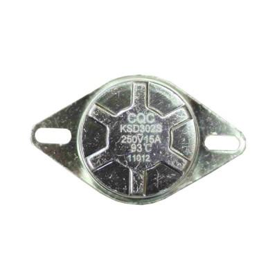 Термостат KSD302S 15A, 93°С, биметаллический, ручной возврат