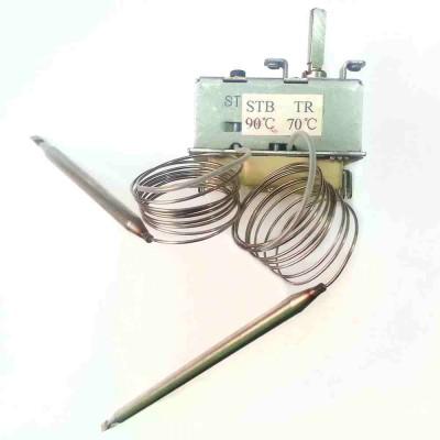 Термостат регулируемый/защитный STB-TR Н19 16А/20A, 70/90°С, 970/940мм, два капилляра, трехфазный, h22мм, 220V/380V