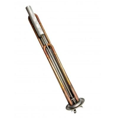 КОМПЛЕКТ: ТЭН RF 2000W(700+1300), медь, Ø64, М4, клеммы под винт, L325мм, 220V + анод М4