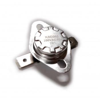 Термостат KSD303 10A, 70°С , биметаллический, самовозвратный