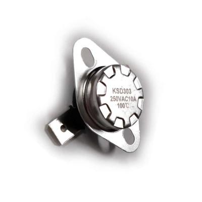 Термостат KSD303 10A, 100°С, биметаллический, самовозвратный