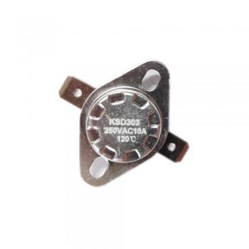 Термостат KSD303 10A, 120°С,  биметаллический, самовозвратный