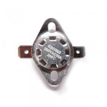 Термостат KSD303 10A, 200°С,  биметаллический, самовозвратный