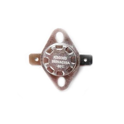 Термостат KSD303 10A, 60°С, биметаллический, самовозвратный