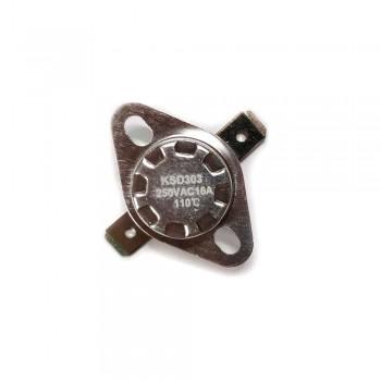 Термостат KSD303 16A, 110°С, биметаллический, самовозвратный