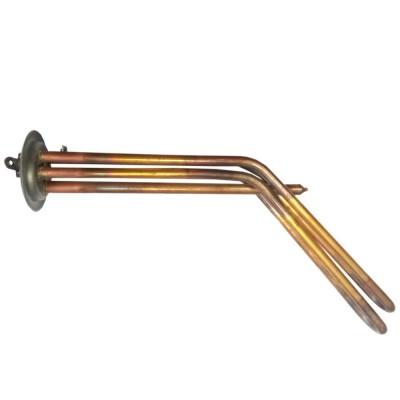 ТЭН RF 2000W(1000+1000), TW, медь, Ø64, М4, клеммы под винт, L295мм, горизонтальный, 220V