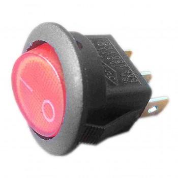 Выключатель с индикаторной лампой круглый 66216