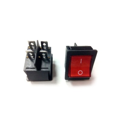Выключатель одноклавишный 26*31мм, 16А, 250V 2 положения, с сигнальной лампой