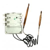 Термостат регулируемый BTS 20А/15A, 70-90ᵒС/термозащита на 105ᵒС, 530/560мм, два капилляра, трехфазный, h22мм, 240V/400V