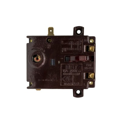 Термостат регулируемый/защитный TIS 15A, Ariston, 73/102°С, прямоугольный, h 8мм, 250V (WTH402AR)