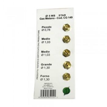 Комплект жиклеров для газовых плит Zanussi, Ariston CG149