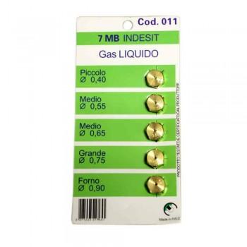 Набор жиклеров для газовых плит Indesit W0412