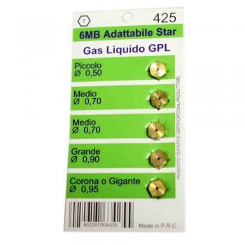 Набор жиклеров для газовых плит Indesit, Hansa W0425