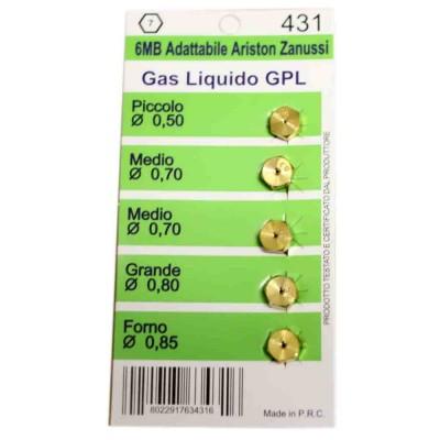 Комплект жиклеров для газовых плит Ariston, Zanussi W0431