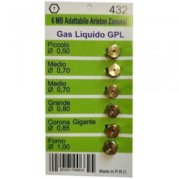 Набор жиклеров для газовых плит Ariston резьба M6 W0432